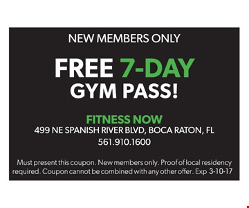 Free 7-day gym pass