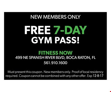 Free 7-day gym pass