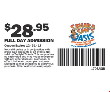 Fully day admission for $28.95.