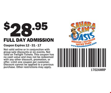 $28.95 full day admission