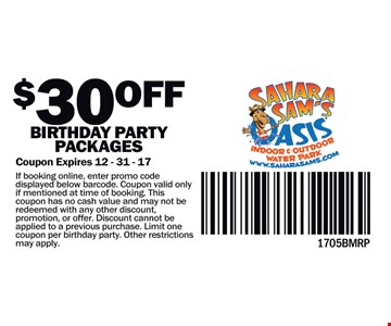 $30 Off Birthday Party Package