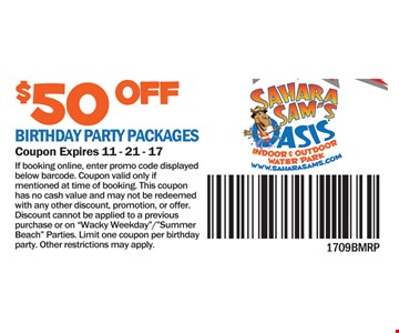 $50 off birthday party packages
