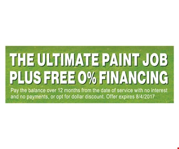 The Ultimate Paint Job Plus Free 0% Financing