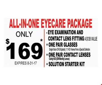 All-In-One Eyecare Package $169