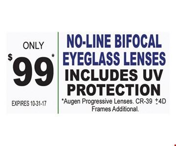 $99 no line bifocal eyeglass lenses