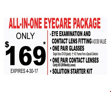 All-In-One Eyesore Package only $169