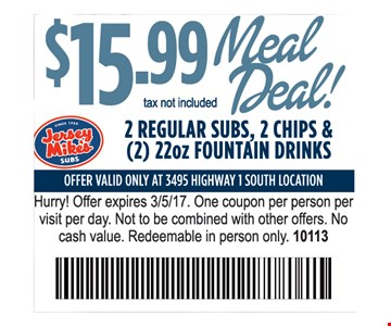 $15.99 meal deal