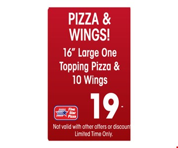 $19 pizza and wings