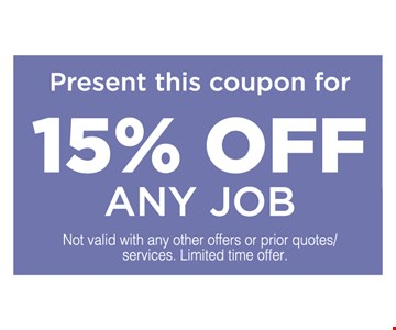 15% off an job