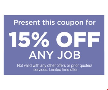 15% Off Any Job
