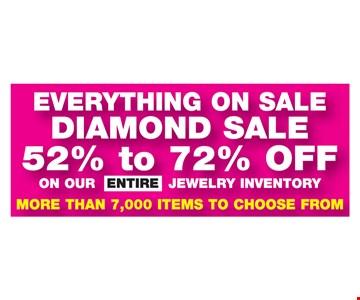 Diamond Sale 52% to 72% OFF