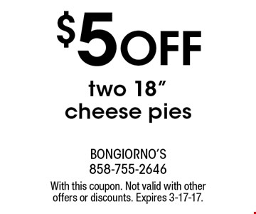$5 OFF two 18