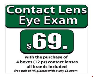 $69 Contact Lens Eye Exam