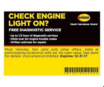free diagnostic service