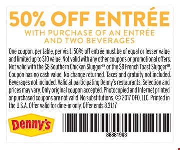 50% Off Entree