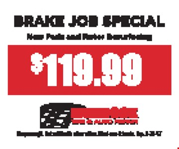 $119.99 Brake Job Special