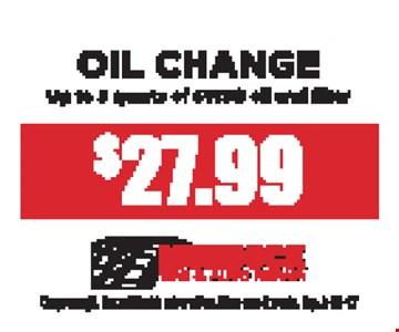 $27.99 Oil Chang