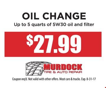 Oil Change $27.99