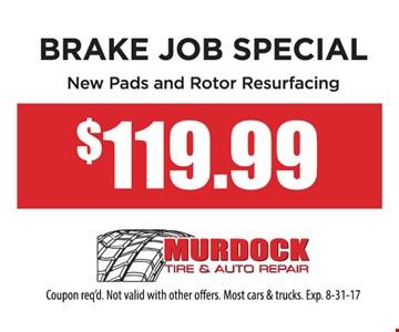 Brake Job Special $119.99