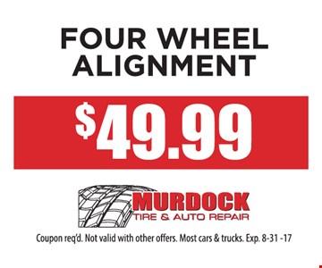 Four Wheel Alignment $49.99