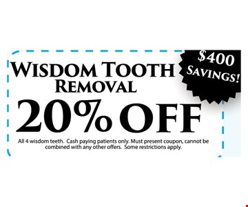 Wisdom tooth removal 20% off