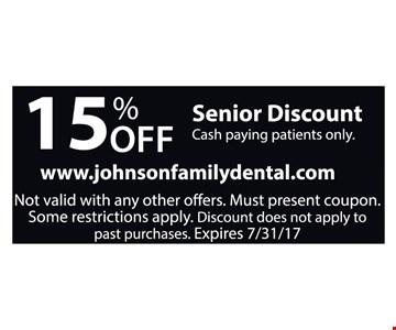 15% Off Senior Discount