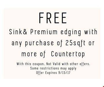 Free sink and premium edging