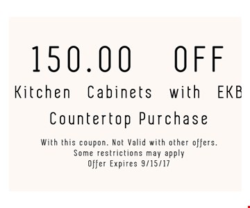 $150 off kitchen cabinets