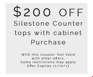$200 off Silestone countertops with cabinet purchase