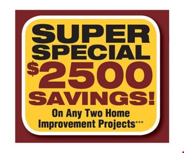 super special $2500 savings
