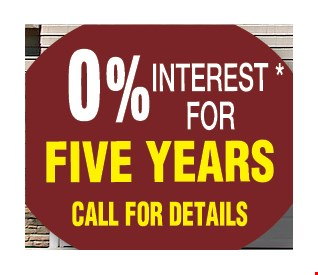 0% Interest for five years!
