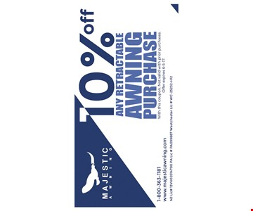 10% off any retractable awning purchase