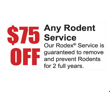 $75 off any rodent service