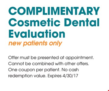 Complementary Cosmetic Dental Evaluation