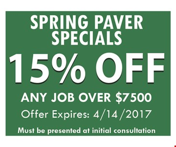 15% off any job over $7500