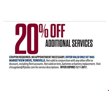 20% off additional services