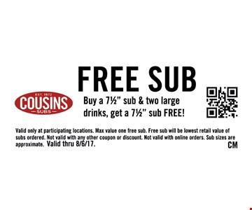 Free sub buy a 71/2
