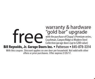 Free warranty & hardware