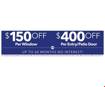 $1000 off 6 or more windows