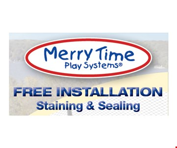 Free installation staining & sealing