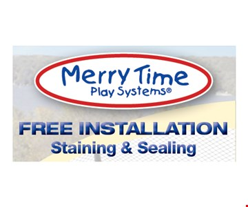 Free Installation, Staining & Sealing. Expires 6-30-17.