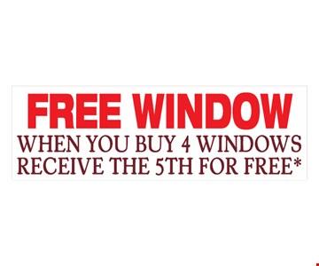 Free Window When You Buy 4 Windows