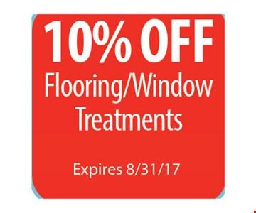10% Off Flooring/Window Treatments