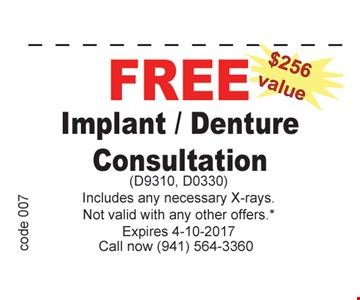 Free Implant/Denture Consultation