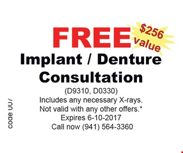 Free Implant/Denture Consultation