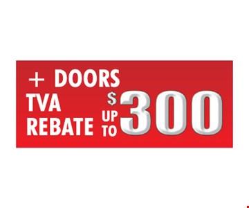 Doors TVA Rebate Up To $300