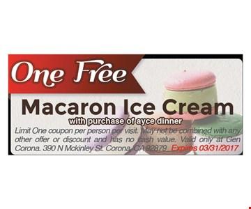 One Free Macaron Ice Cream
