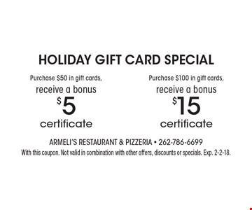 SUNDAY-THURSDAY $10 OFFany purchase of $55 or more. With this coupon. Not valid in combination with other offers, discounts or specials. Exp. 5-26-17.