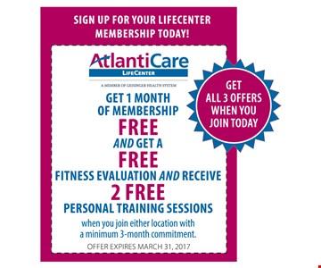 Get 1 Month of Membership Free