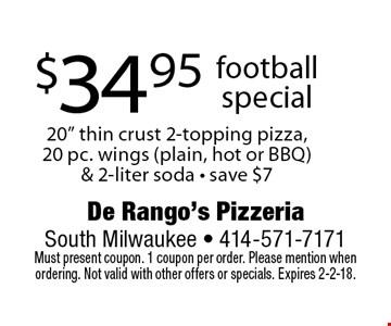 $34.95 football special 20